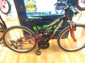 Apollo XC24 24inch wheels full suspension mountain bike kids childrens cycle