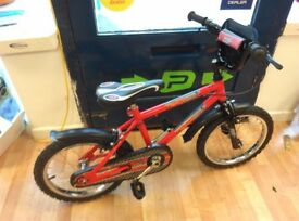 "Kids Red urban 16"" wheel red lightweight bike new seat, fully working no problems nice and clean"