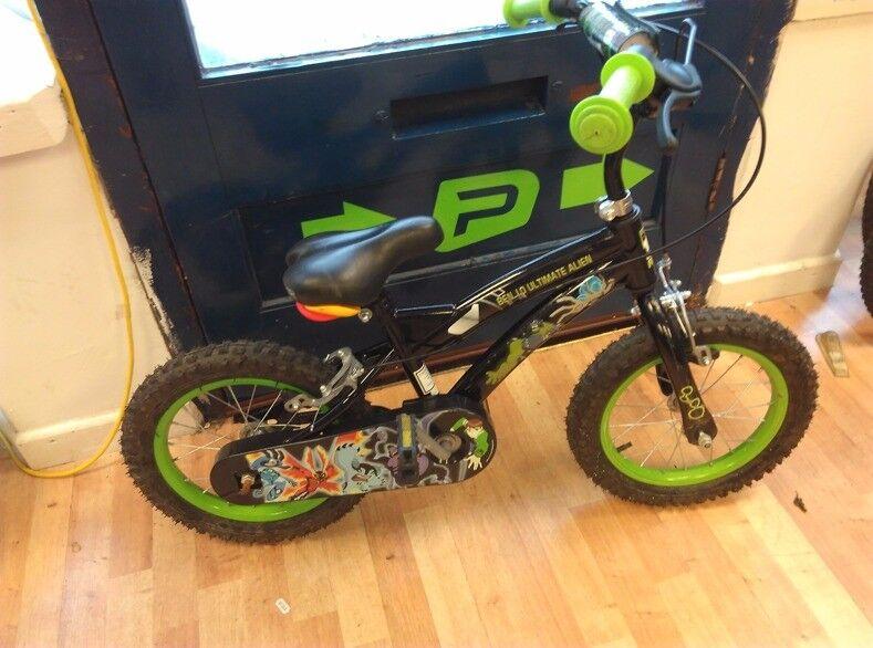 "Ben ten 14"" wheel boys bike working order few scuffs will suit rider 3-4 years age cycle"