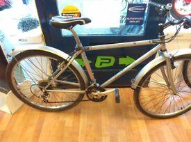 "Orange clockwork small frame 17"" silver steel full mudguards 26"" wheels retro cycle"