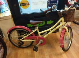 Dawes lil Duchess low step girls bike 6 speed, full mudguards, front basket, 20inch wheel