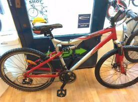 Apollo XC26 Full suspension mountain bike front disc brake, new chain and cassette bicycle