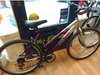 "Ladies mountain bike Freespirit 19"" Frame, grip shifter gears 18 speed, 26"" alloy wheels"