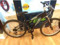 Concept mud monkey 24inch wheels mountain bike ideal kids age 9- 11yrs 18 speed grip shifter gears