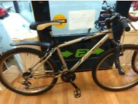 Decathlon rockrider mountain bike 18inch frame 26inch wheels, front suspension, rear mudguard