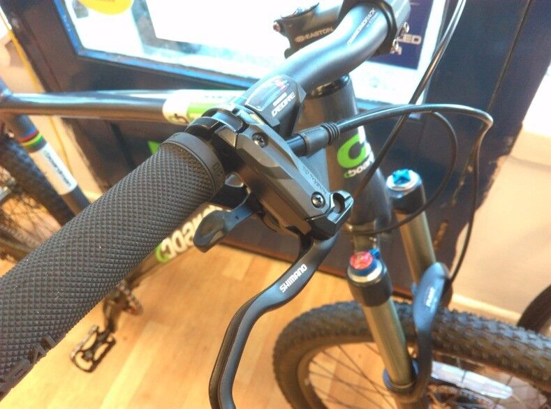 Boardman Team alu mountain bike, Fox 150mm Evolution forks, Shimano hydraulic brakes