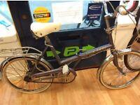 "Raleigh Stowaway folding purple 20"" wheel bike ladies reasonable condition chrome guards"