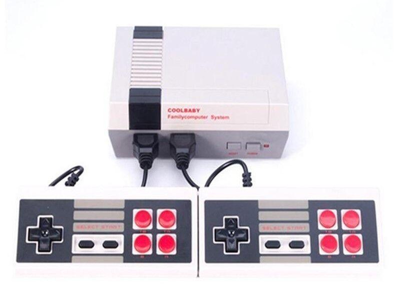 AV Mini Retro TV Game Console NES Classic 620 Built-in Games 2 Controllers xma