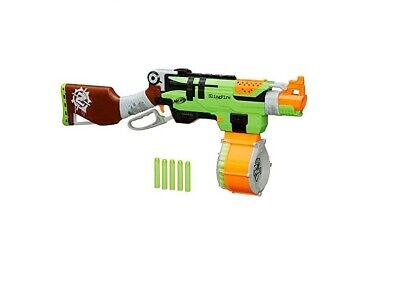 Nerf Zombie Strike SlingFire Blaster Rifle Gun with 25 Dart Drum & 31 Darts New