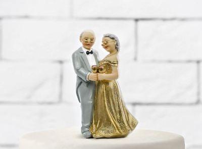 Pastel Topper Bodas de Oro Cónyuges 50 Años Matrimonio Aniversario