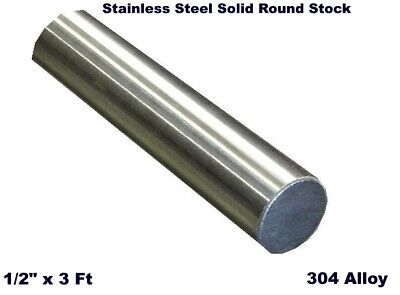 Stainless Steel Solid Round Stock 12 X 3 Ft 304 Unpolished Rod 36 Length