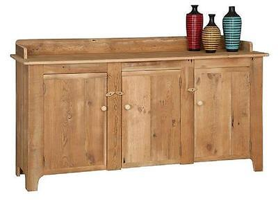"""RECLAIMED ANTIQUE BARN WOOD 6' SIDEBOARD/BUFFET - UNFINISHED - PINE 72""""Wx40""""H"""