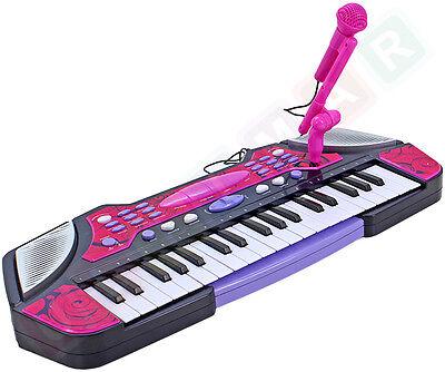 Klavier Keyboard für Kinder Mikrofon Aufnahmefunktion Melodien Spielzeug Musik