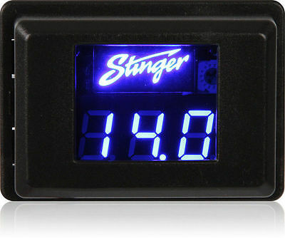 NEW STINGER SVMB VOLTMETER 3-DIGIT BLUE LED VOLTAGE DISPLAY GAUGE VOLTAGE METER