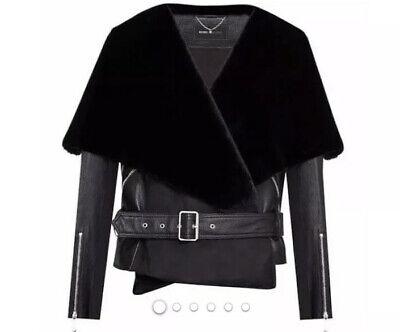 BCBG Maxazria Jade 100% Lamb Leather Jacket Small