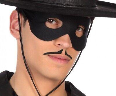 MOUSTACHE Noire ZORRO Accessoire Déguisement Adulte Homme NEUF pas - Zorro Mustache