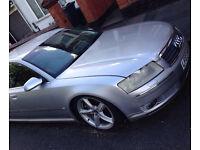 """Silver Audi A8 3.7 Auto Petrol 2003 Quattro Auto 19"""" Alloys Leather Interior Needs TLC"""