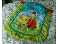BABY'S LOVELY BRIGHT STARTS TURTLE TUMMY TIME PLAY MAT