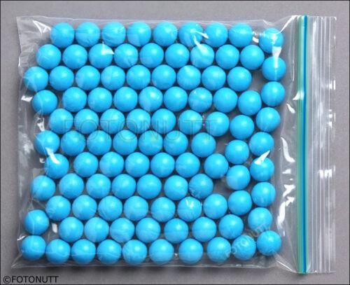 100 Premium .68 cal Reusable BLUE Rubber Training Balls NEW paintballs c reballs