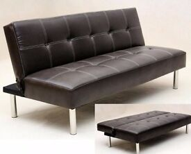Faux Leather 3 Seater Sofa Bed - used .. new is £119 ( advert in gumtree )