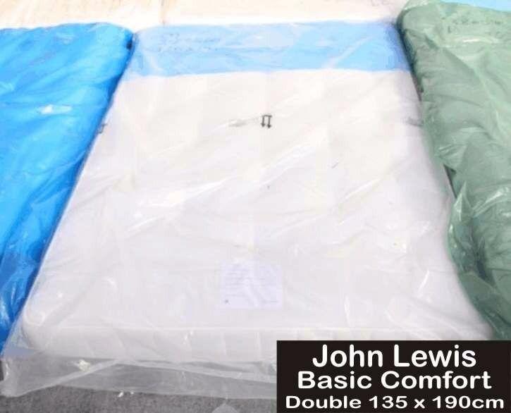 DOUBLE MATTRESS 135 X 190cm JOHN LEWIS BASIC COMFORT BRAND NEW!!!!