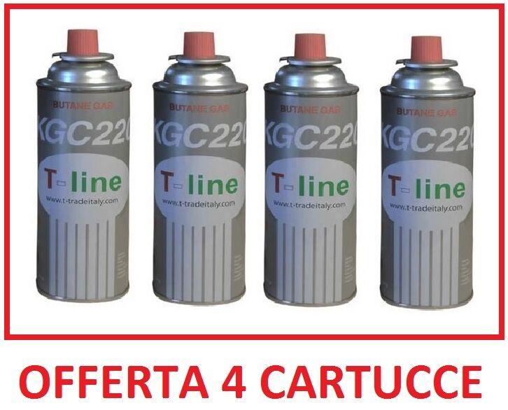 BOMBOLETTA CARTUCCIA CARTUCCE GAS DA 250 GR  PER FORNELLO BISTRO --- 4 PEZZI ---