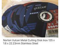 Norton Vulcan Metal Cutting Disks 125x1.6x22.23mm