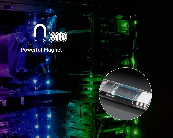 Akasa Vegas Mb Rgb Magnetic Led Strip Light Designed For