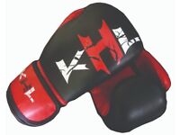 New genuine cowhide leather boxing gloves 8-16oz