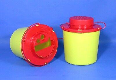 10 Stück Kanülensammler 1,5 Liter Kanülenabwurf Entsorgungsbox Abwurf