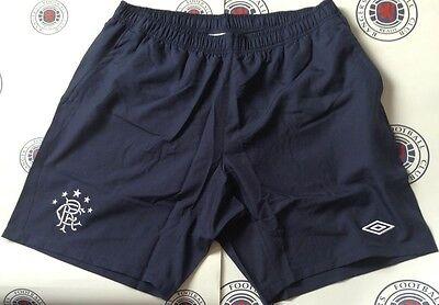 Glasgow Rangers training Shorts Dark Navy Umbro Size Small Boys Bargain Price