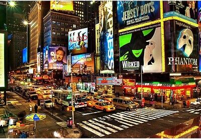 7x5ft New York City Times Square Background scenic party backdrops