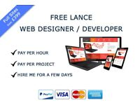 Free lance Web Designer/ Developer Based in Liverpool - very competitive rates - Flexible Terms