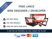 Free Lance Web Designer -Crosby - Starter website from £350