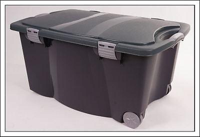 Allzweckbox XXL Spielzeugkiste 120l - Rollbox Rollenbox Gartenbox Spielzeugbox