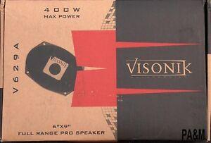 VISONIK V629A 6X9 FULL RANGE 200W RMS CARBON FIBER CAR SPEAKERS NEW