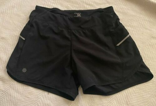 Girls Athleta Solid  Black Active Record Breaker Running Liner Shorts XL 14