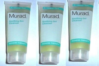 3 x Murad Soothing Gel Cleanser 1.5 oz x 3  Travel size