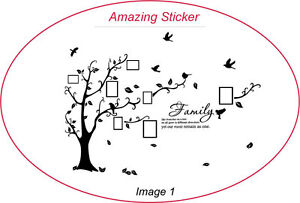 Family Tree Bird  Art Wall Quotes / Wall Stickers / Wall Decals