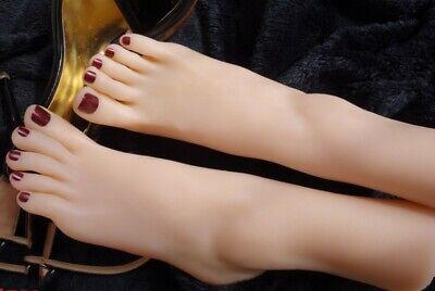 Top Quality Silicone Female Feet Model Display Art Sketchvivid Perfect Feet