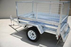 New Box Trailer 7X4 Gal + Cage + New Wheels & Tyres  + Drive Away Blue Haven Wyong Area Preview