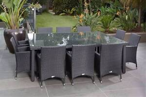 11 Piece Dining Setting - BRAN NEW SETTING - Rattan Living Angle Park Port Adelaide Area Preview