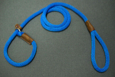 WARNER BRAIDED NYLON ROPE BRITISH SLIP LEAD DOG LEASH  Blue  1/2inch X 6 foot on Rummage