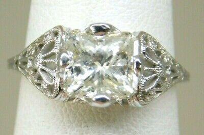 ANTIQUE 18K WHITE GOLD 2.30CT DIAMOND RING 3.0 GRAMS L-M I-1 SIZE 5.75