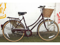Ladies Vintage dutch bike RALEIGH CAMEO in burgundy - 3 speed , frame size 20 ready to go - Welcome