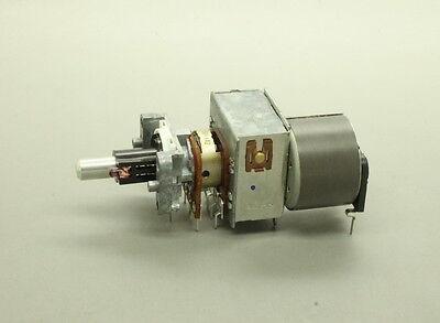 Alps 16mm Dual-gang B50k 50k Linear Motorized Potentiometer 10mm D Shaft 8 Pin