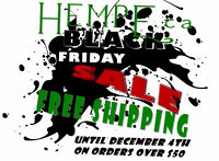 Hemp Health and Beauty Black Friday Sale - Free Shipping