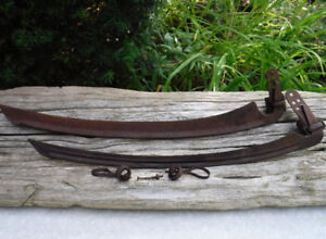 VINTAGE SCYTHE BLADES & HARDWARE GARDEN FARM DECOR TOOL SICKLE
