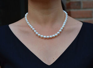 Ivory Freshwater Pearl Necklace - a Christmas jewelry gift London Ontario image 1