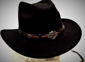 Chapeau HARLEY Homme MEDIUM Feutre Country 55$ AR